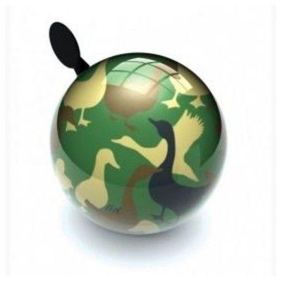 Ringeklokke til cykel - camouflage ænder - Liix