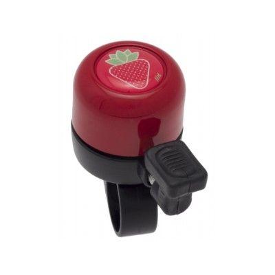 Ringeklokke til cykel - rød med jordbær - Liix