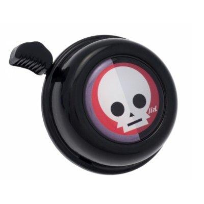 Ringeklokke til cykel - sort med dødningehoved - Liix