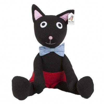 Katten Rita fra Pelli Anni, tøjdyr - 40 cm - Fair Trade