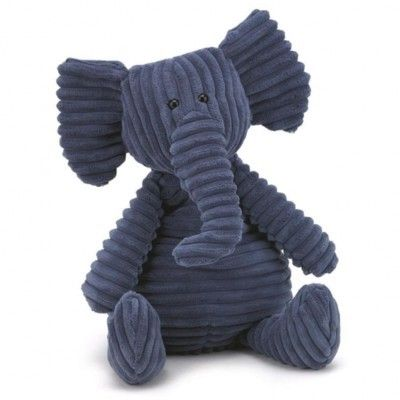 Elefant - tøjdyr, fløjl - 40 cm - Jellycat