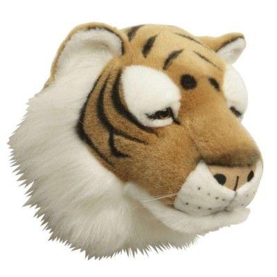 Dyrehoved som kan hænges på væggen - tiger