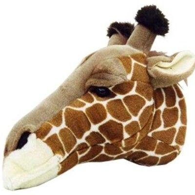 Dyrehoved som kan hænges på væggen - giraf