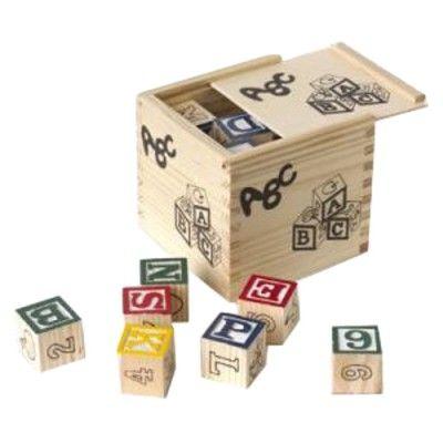 Træklodser i kasse - ABC