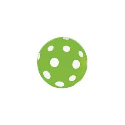 Hoppebold - grøn med hvide prikker