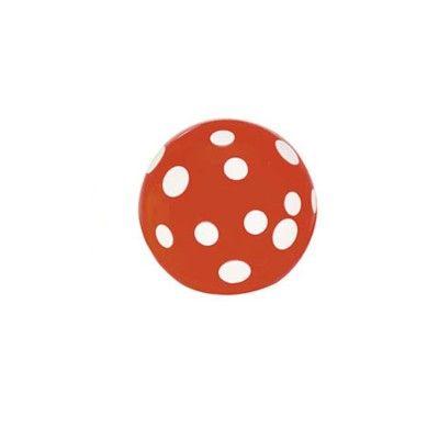 Hoppebold - orange med hvide prikker