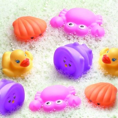 Badelegetøj - dyr som kan sprøjte vand - lyserød, 8 stk