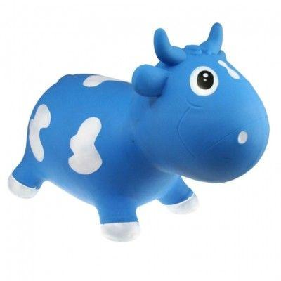 Hoppedyr - ko, blå og hvid