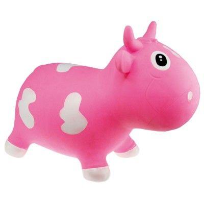 Hoppedyr - ko, lyserød og hvid