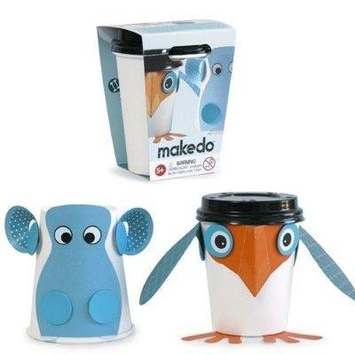 Cup critters - fugl og flodhest