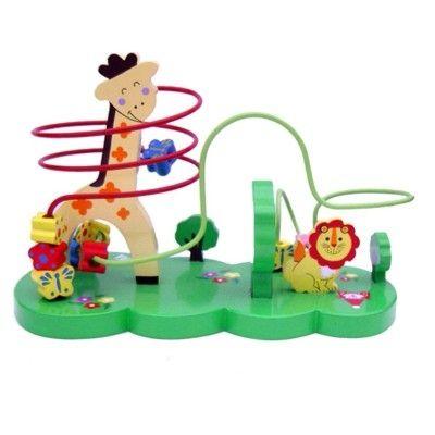 Labyrint - Giraf med blomster og sommerfugle