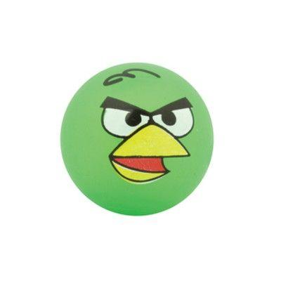 Hoppebold med lys - Angry birds - grøn