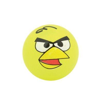 Hoppebold med lys - Angry birds - gul