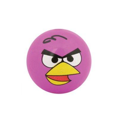 Hoppebold med lys - Angry birds - rosa