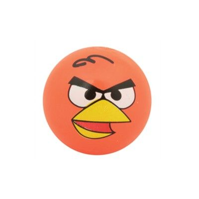 Hoppebold med lys - Angry birds - orange