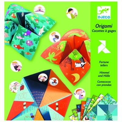 Origami - folde papir - grøn - Djeco