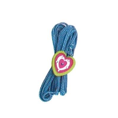 Hoppeelastik - blå med hjerte