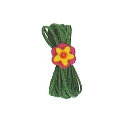 Hoppeelastik - grøn med blomst