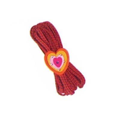 Hoppeelastik - rød med hjerte